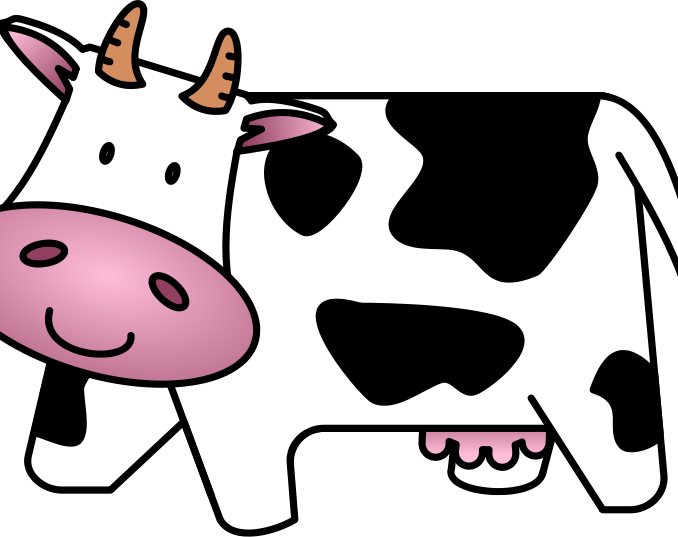 Images cute free cartoon. Cow clipart clip art