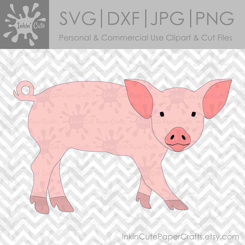 Clipart pig cut. Svg file files clip