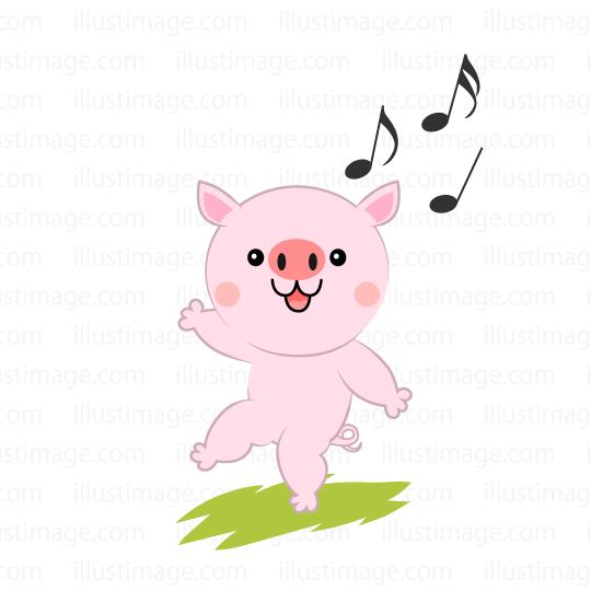 Clipart pig dance. Free download clip art