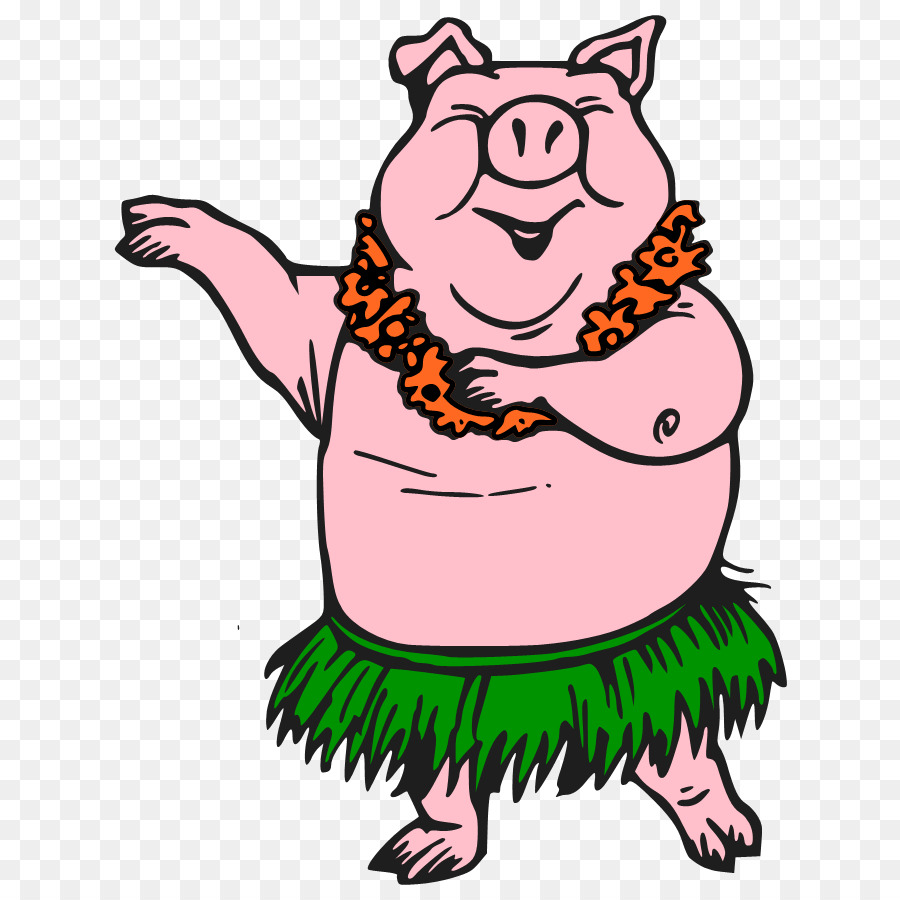 Cartoon transparent clip art. Clipart pig dance