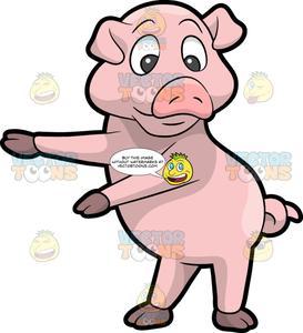 A dancing the floss. Clipart pig dance