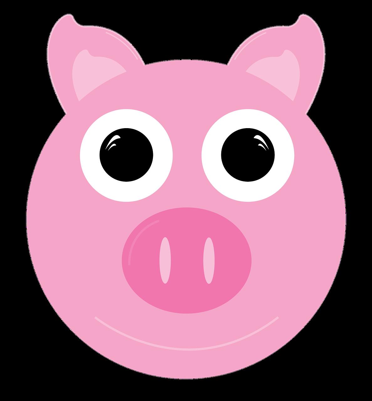 Clipart pig domestic animal. Pork farm cartoon free