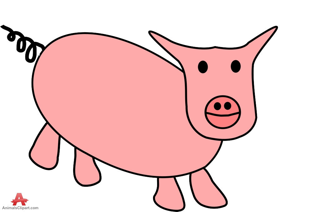 Drawing clip art library. Clipart pig doodle