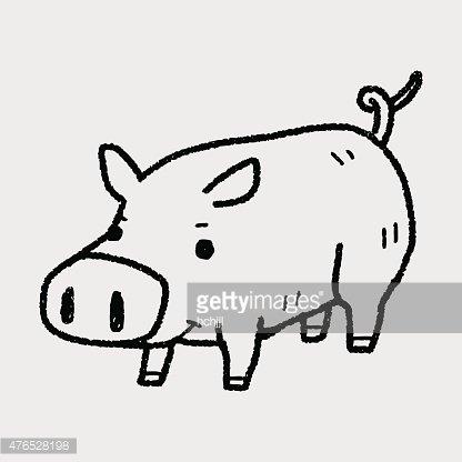 Premium clipartlogo com . Clipart pig doodle