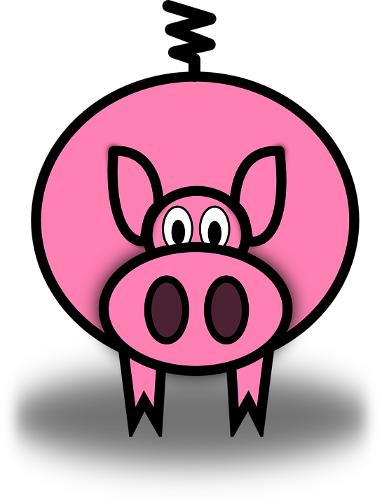 Clipart pig easy. Collection of simple pink