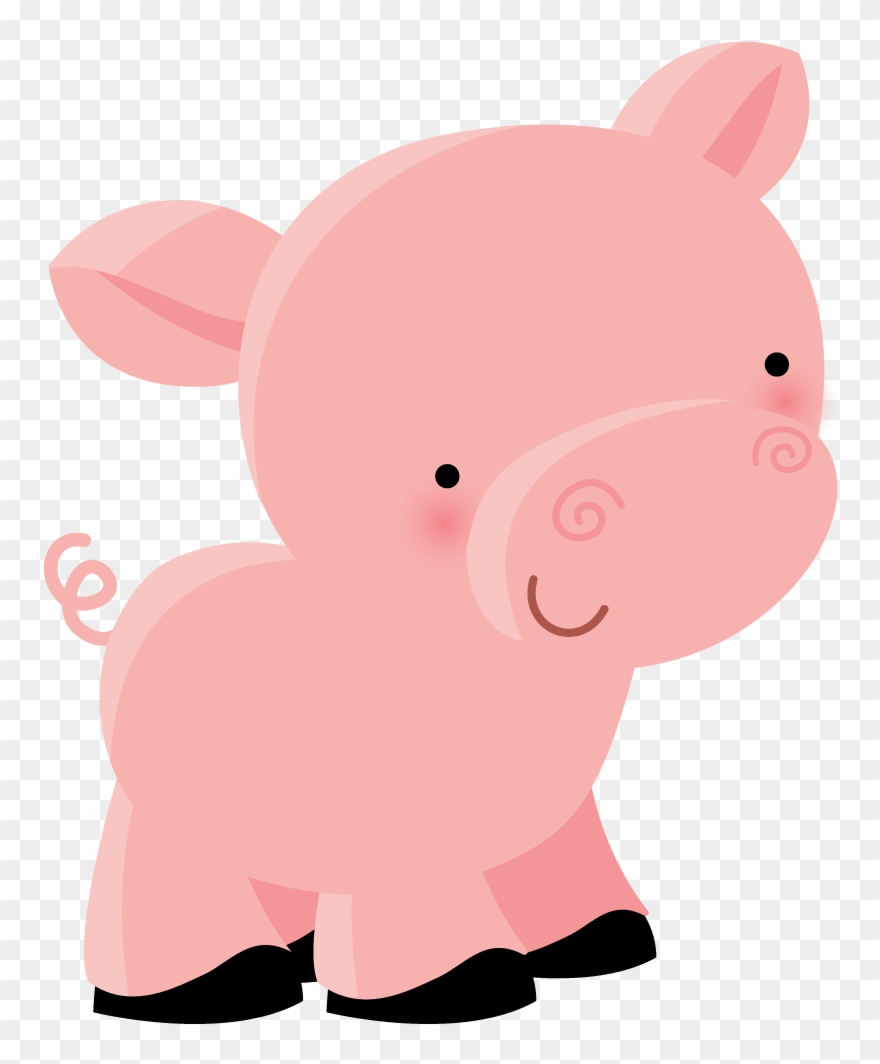 Pig clipart farm animal. Illustration animals cute