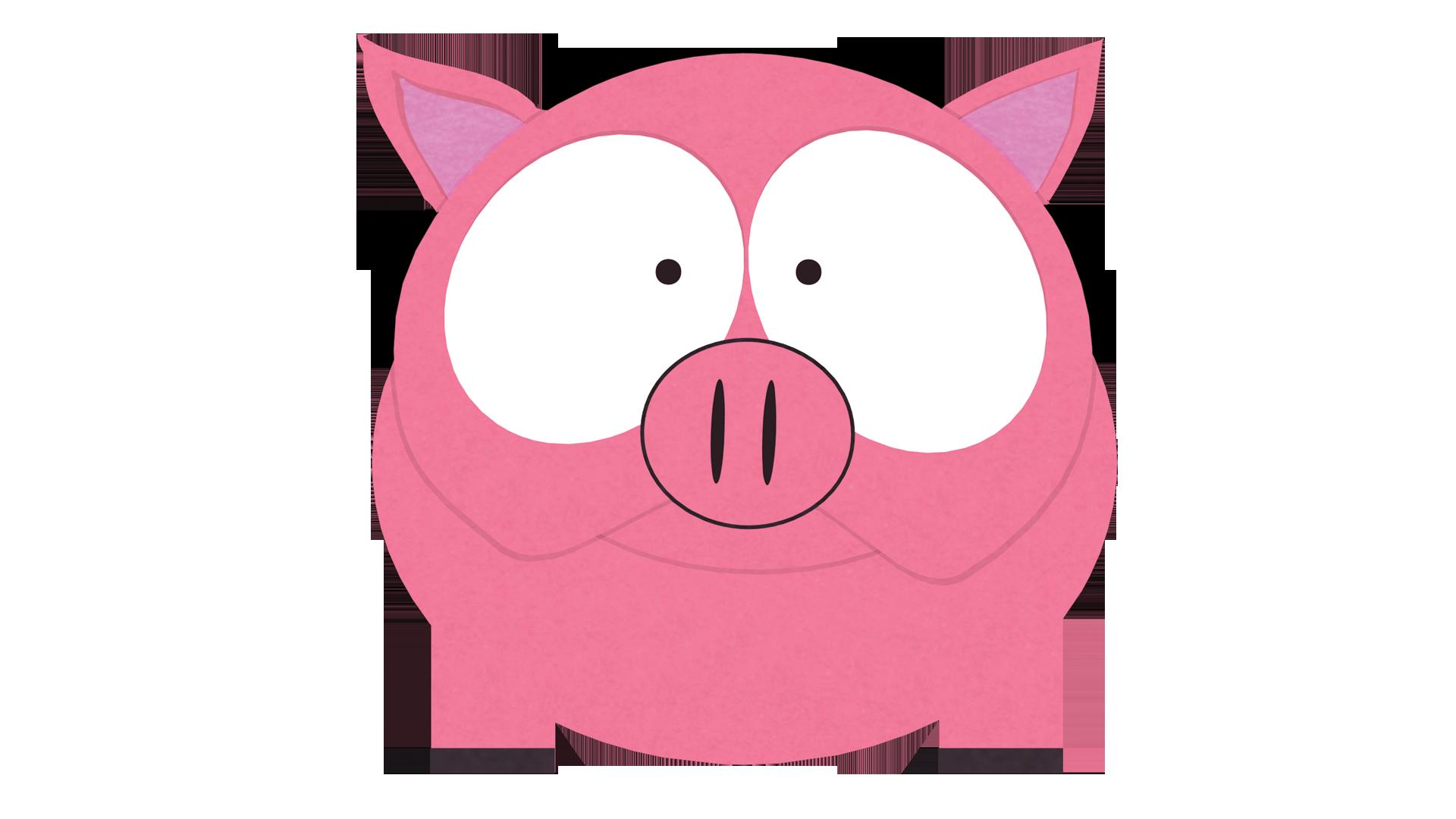 Clipart pig female pig. Fluffy official south park