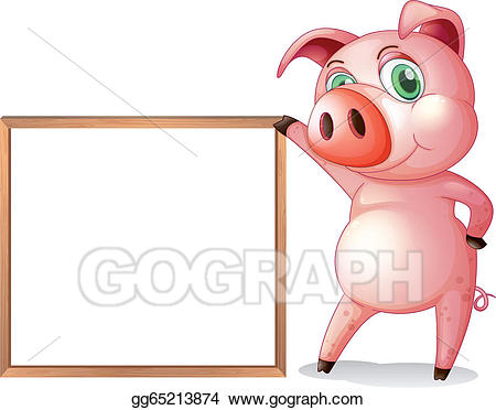 Clipart pig female pig. Vector stock a beside