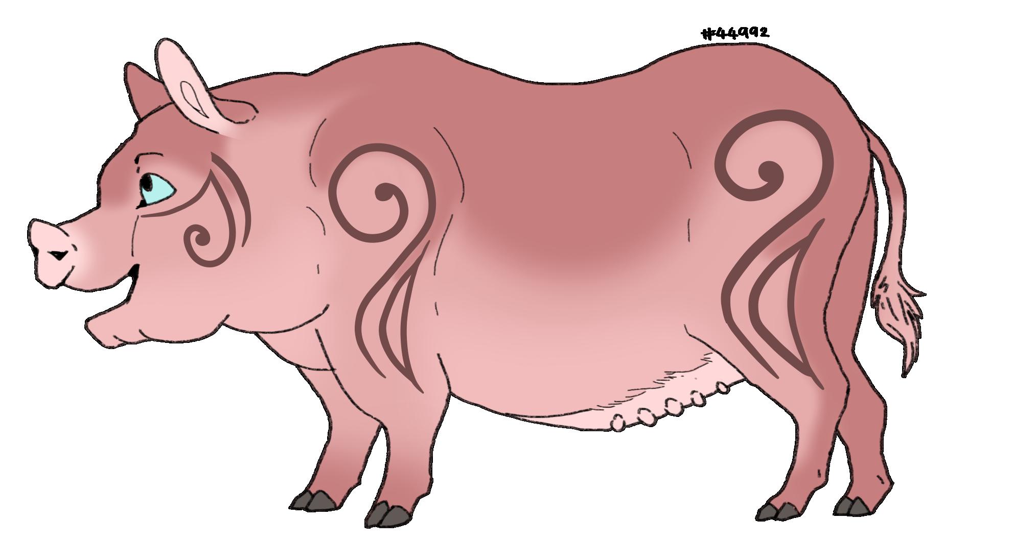 Piggy adoptables lioden gender. Clipart pig female pig