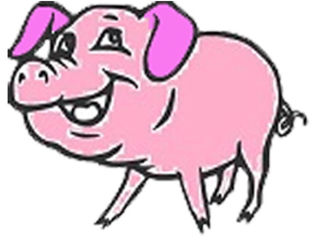 Clipart pig fence. Pure nature farms grass