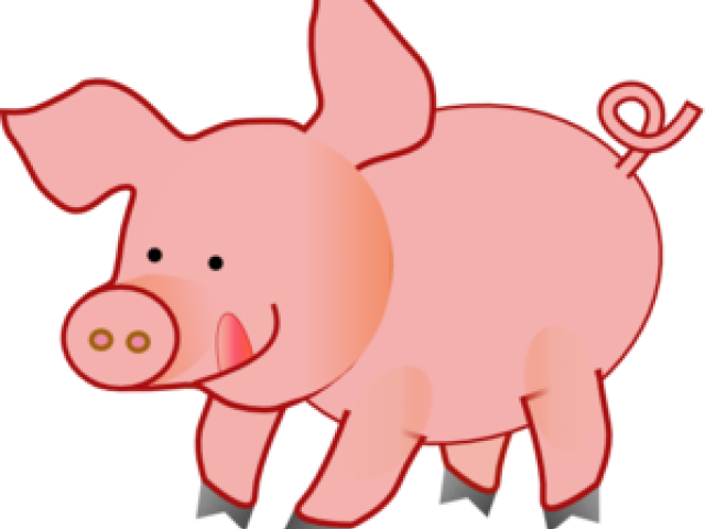 Clipart pig fence. Picture of a pink