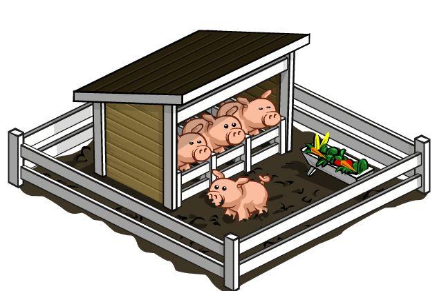 Free farm cliparts pen. Clipart pig fence