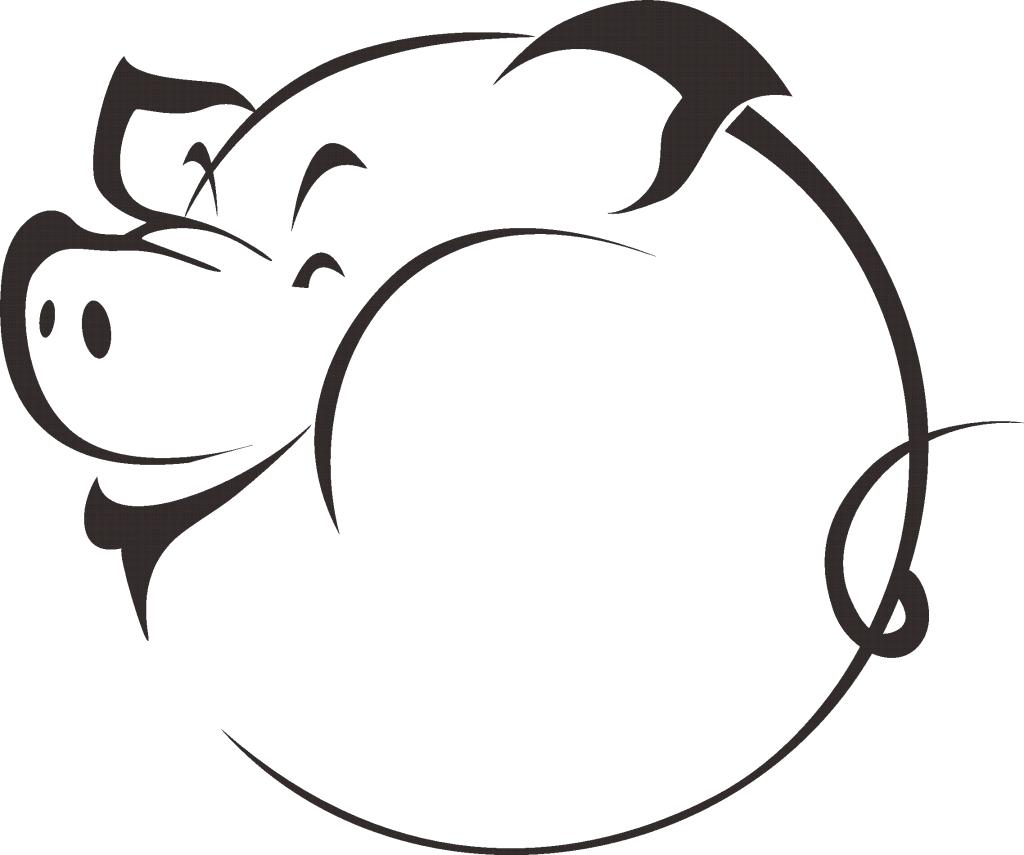 Pig clipart fetal pig. Head silhouette at getdrawings