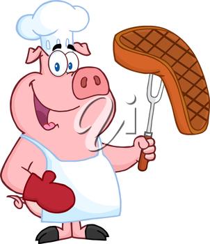 Clipart pig food. Iclipart clip art illustration