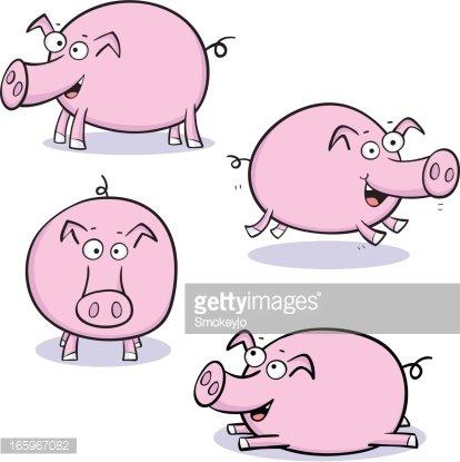Cute pigs premium clipartlogo. Clipart pig four