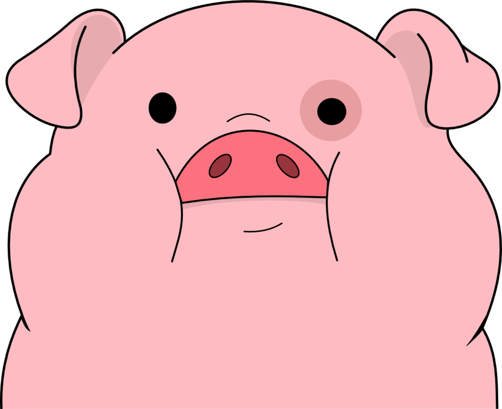 Shy clipart piglet. Waddles by captain connor