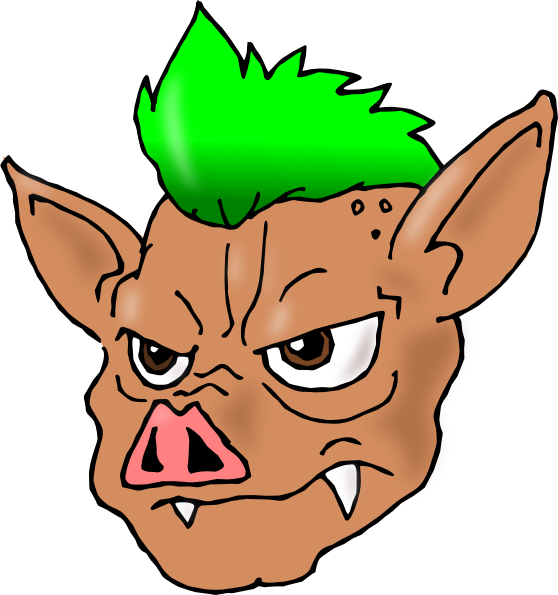 Punk pig clip art. Clipart rock face