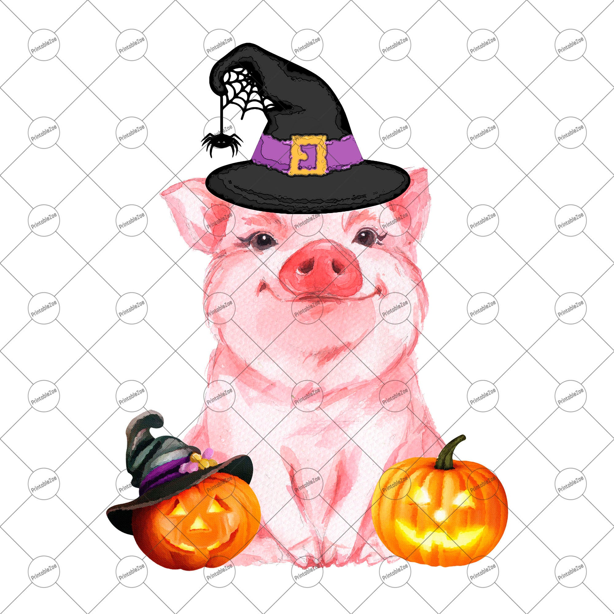 Funny png sublimation designs. Clipart pig halloween