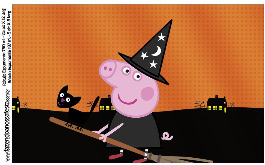 Download peppa fete mon. Clipart pig halloween