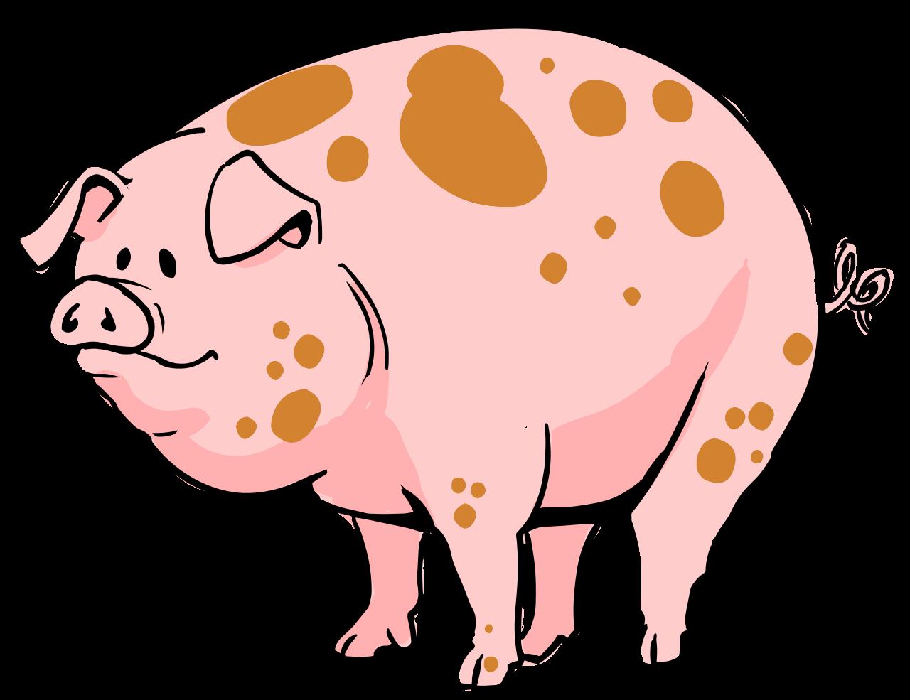 File cartoon svg wikimedia. Pig clipart mud