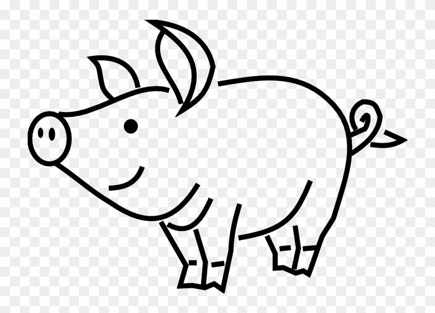 pig clipart line art