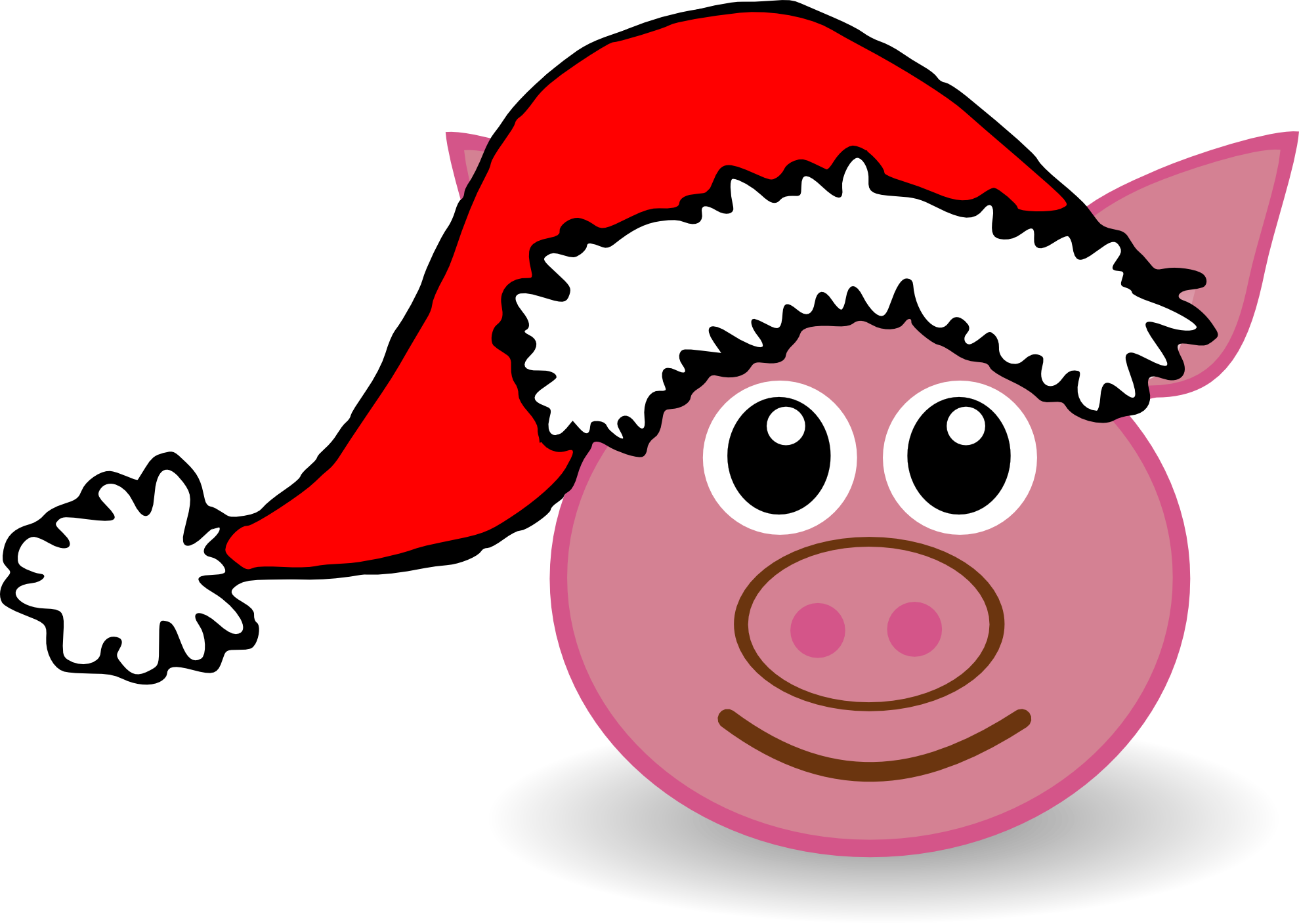 Pig face pencil and. Ham clipart pork chicken