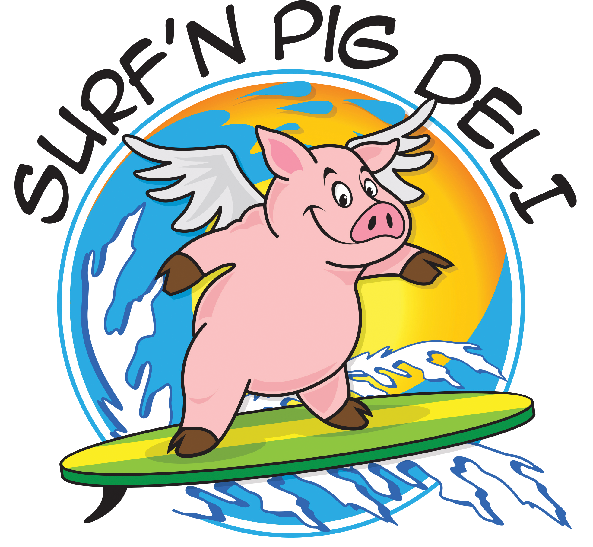 Clipart pig meal. Quality time food surfn