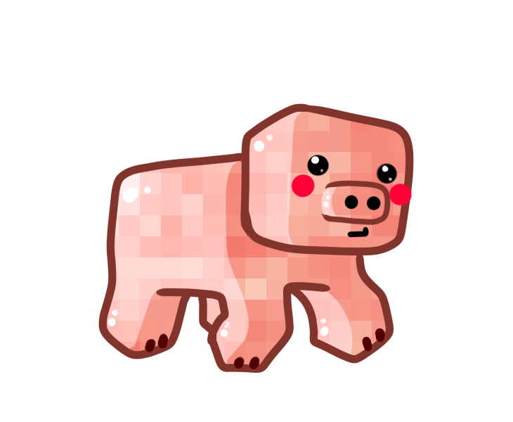 Pig clipart clear background. Chibi by ronindude on