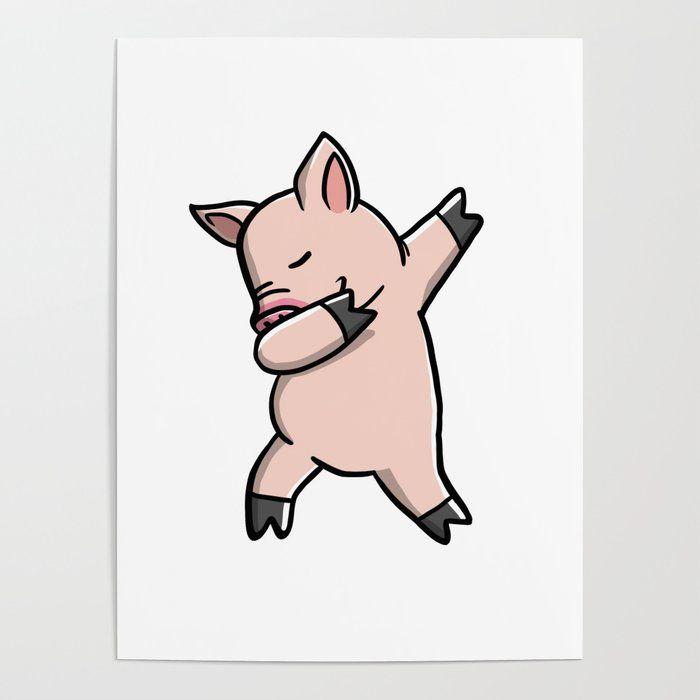 Clipart pig mini pig. Funny dabbing pet dab