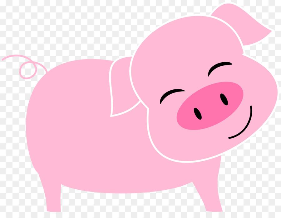 Clipart pig mouth. Cartoon illustration