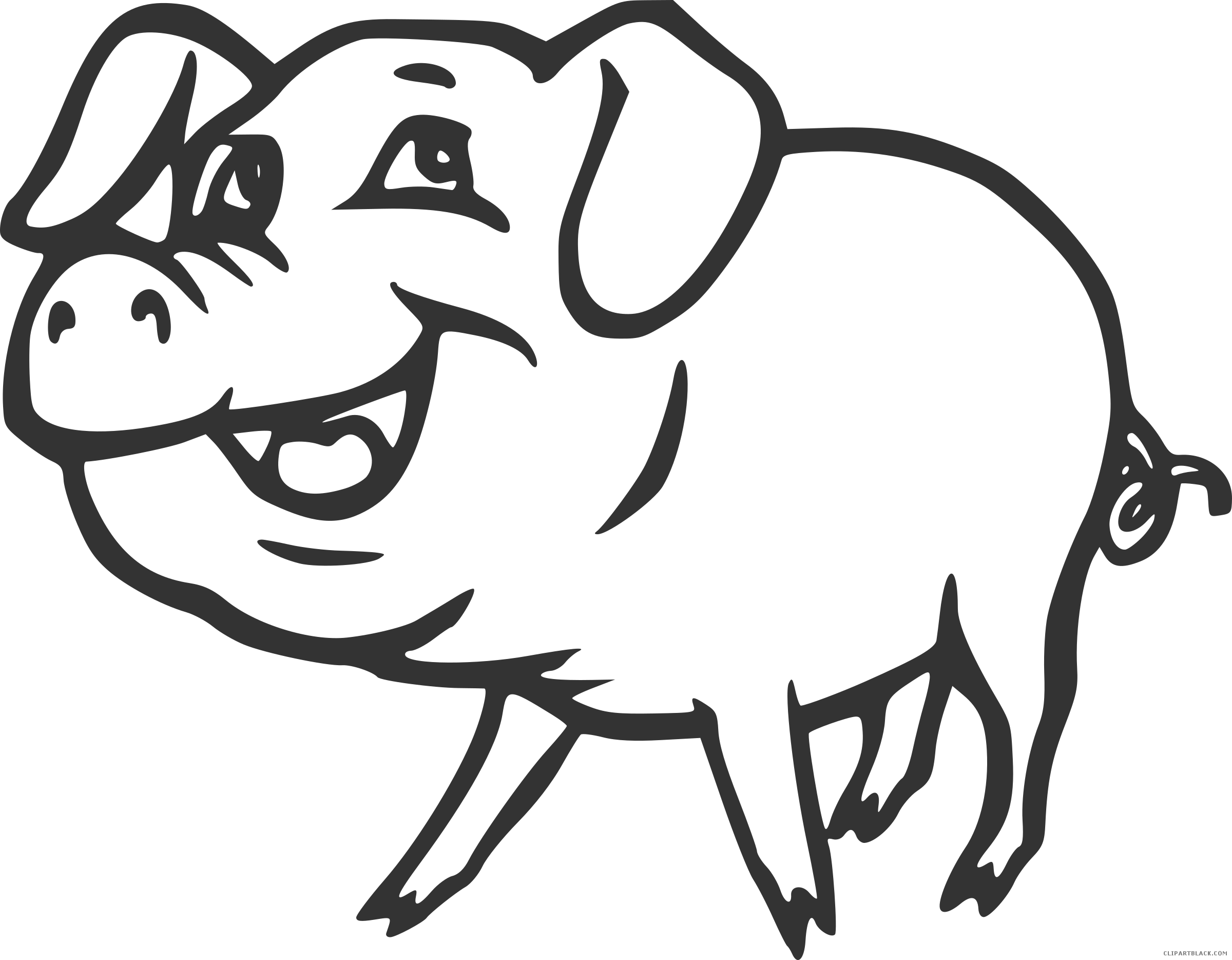 Page of clipartblack com. Clipart pig mud