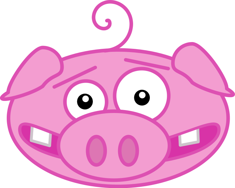 Free pictures of a. Clipart pig mud