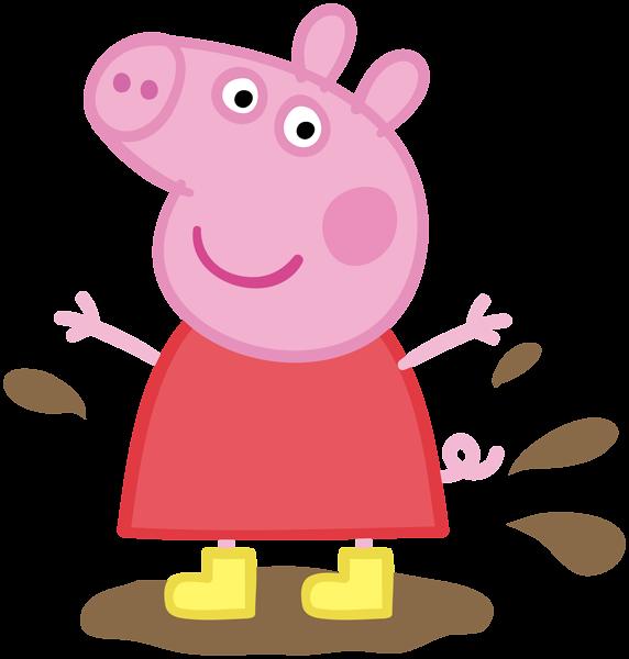 clipart pig mud