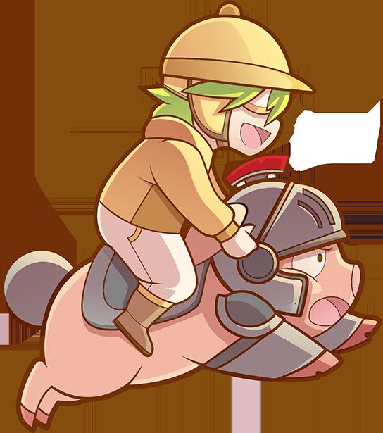 Clipart pig muscular. Sprite knight by disnie