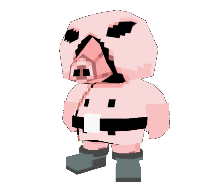 Custom edited earthbound mother. Clipart pig muscular