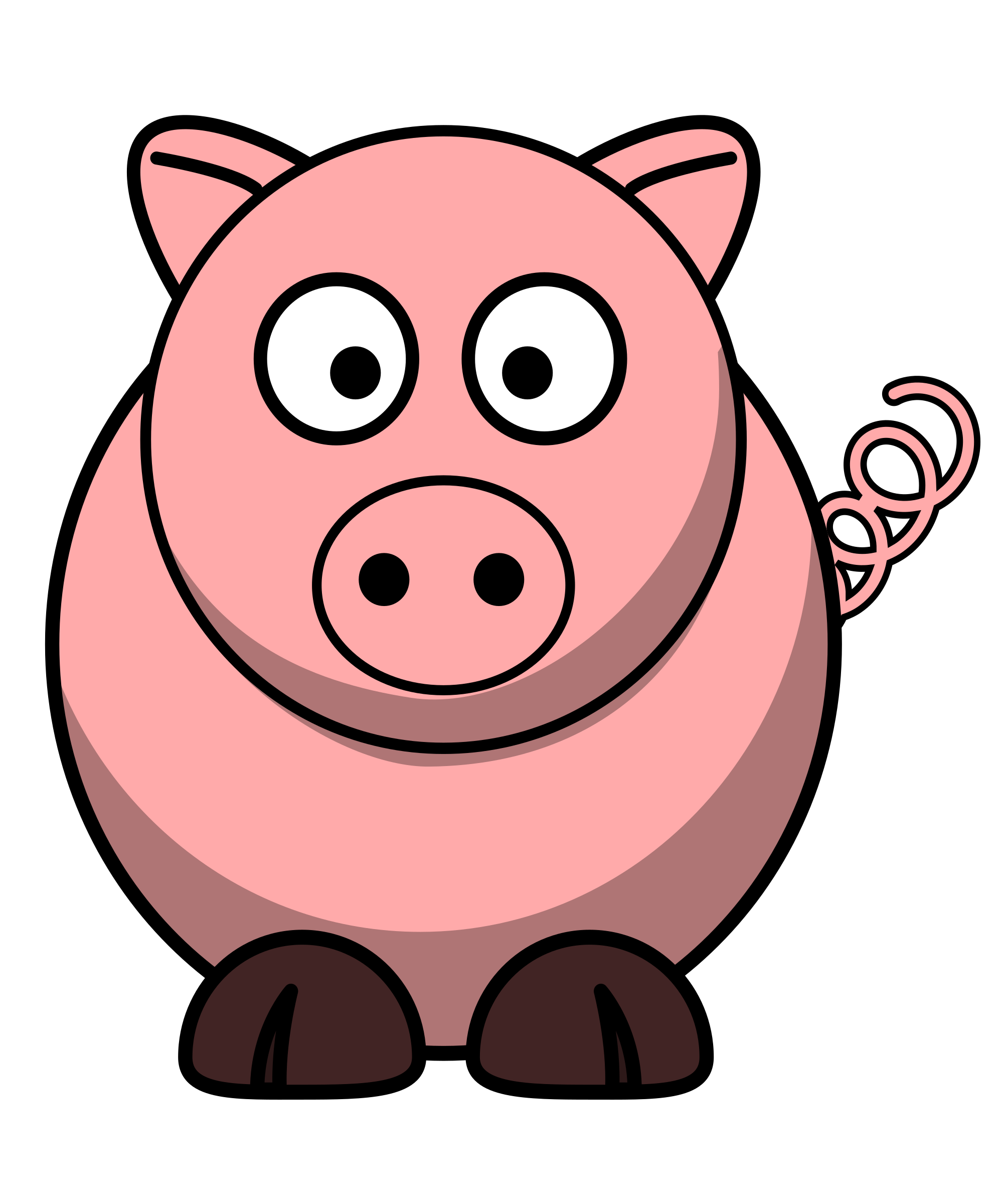 Nose clipart round.  collection of fat