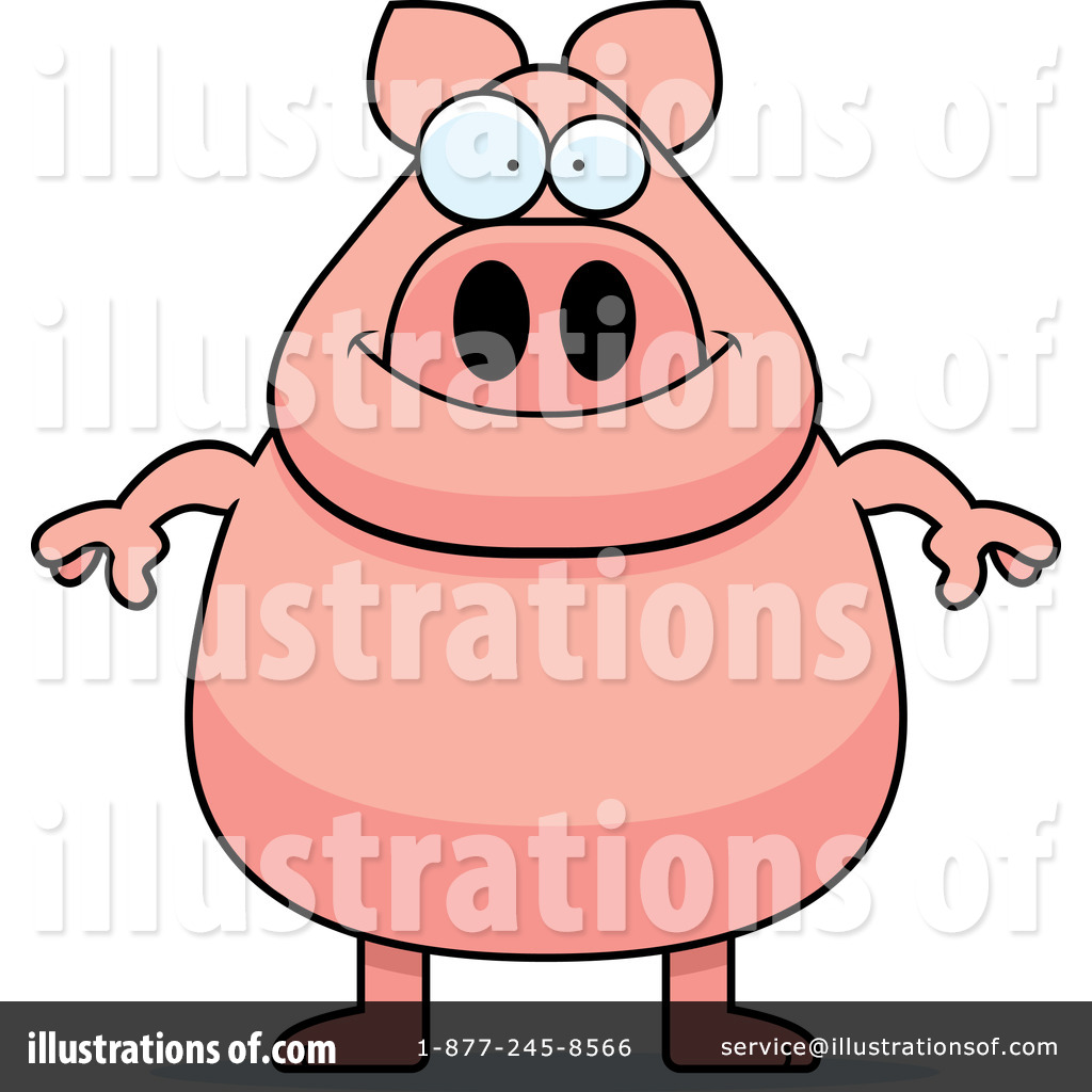 Pig illustration by cory. Pigs clipart overweight