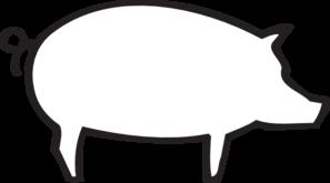 Clipart pig outline. Clip art vector online