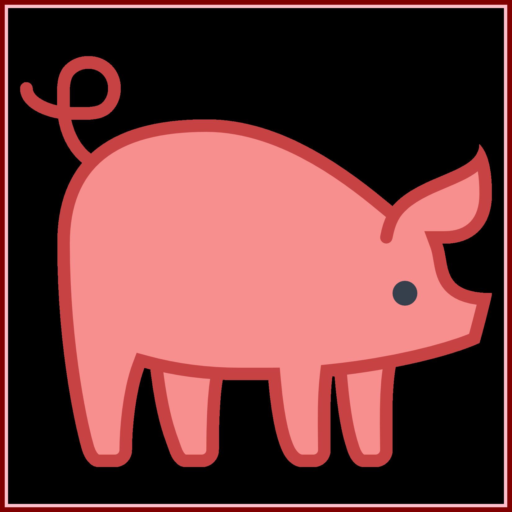 Fascinating piggy bank illustration. Clipart pig outline