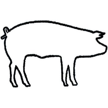 Clipart pig outline. Free of a download