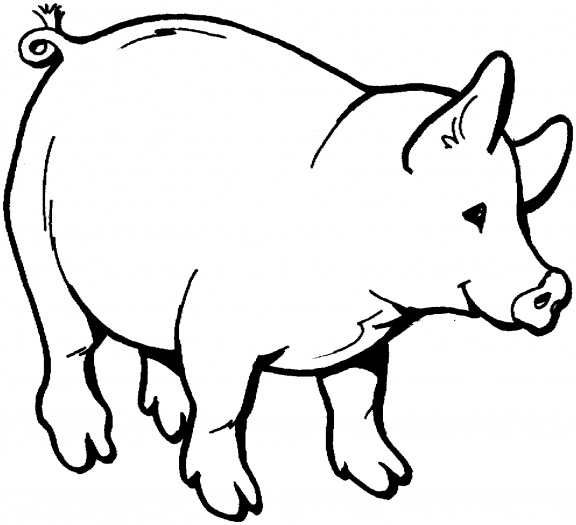 Pig clipart line art. Free outline download clip