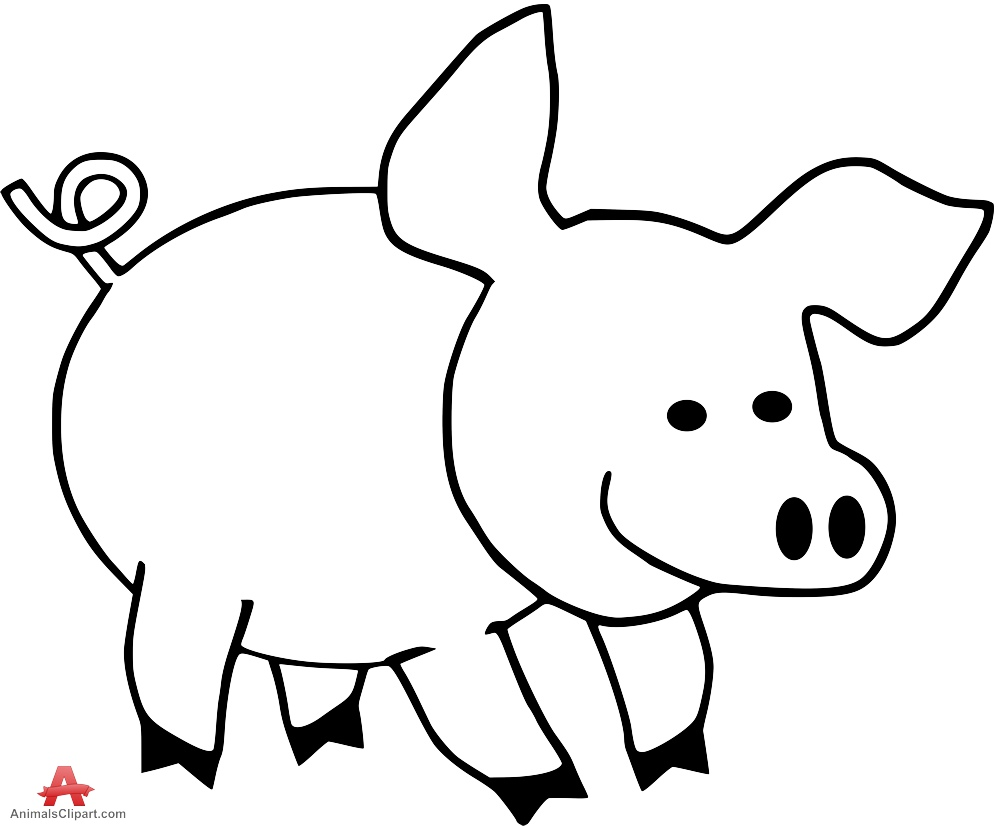 Design free download . Clipart pig outline