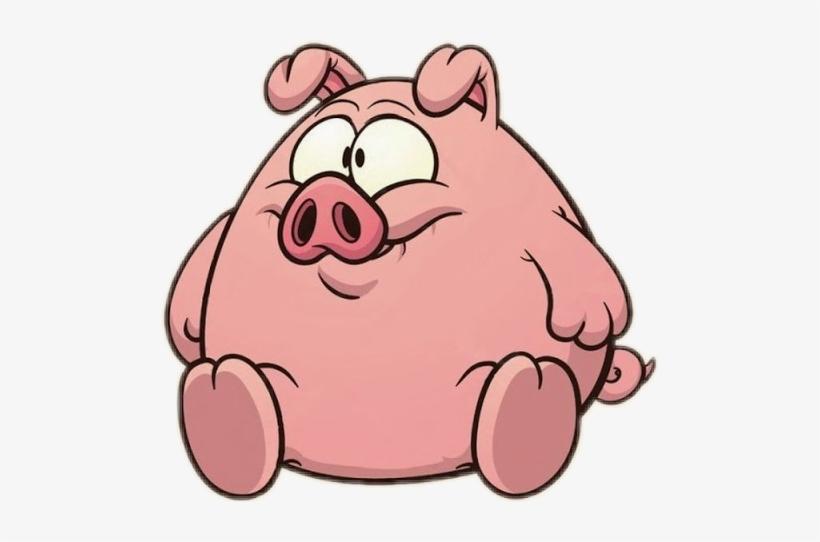 Pig clipart overweight. Cute fat transparent png
