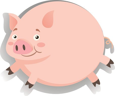 Pigs clipart overweight. Fat pig happy face