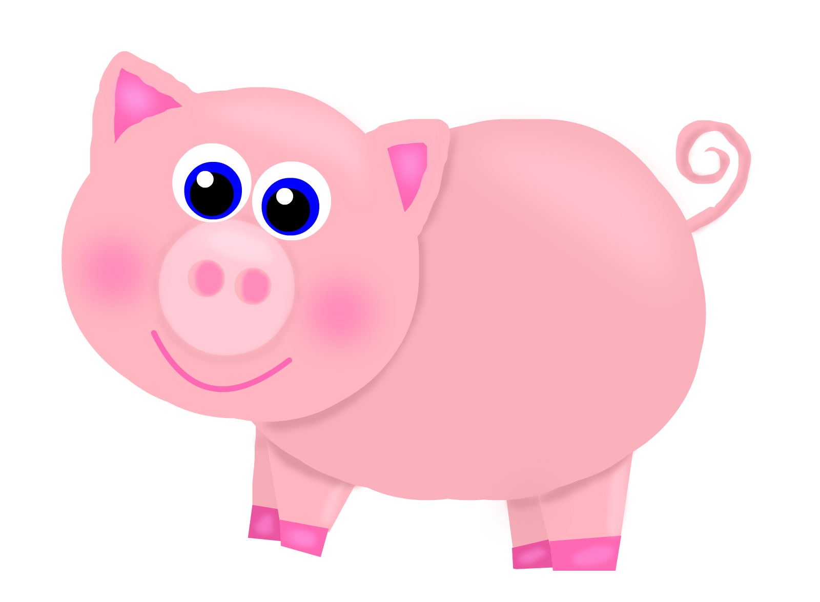 Pigs clipart body. Free pink pig cliparts