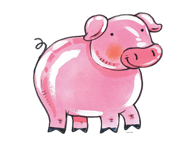Pink pig clip art. Pigs clipart printable