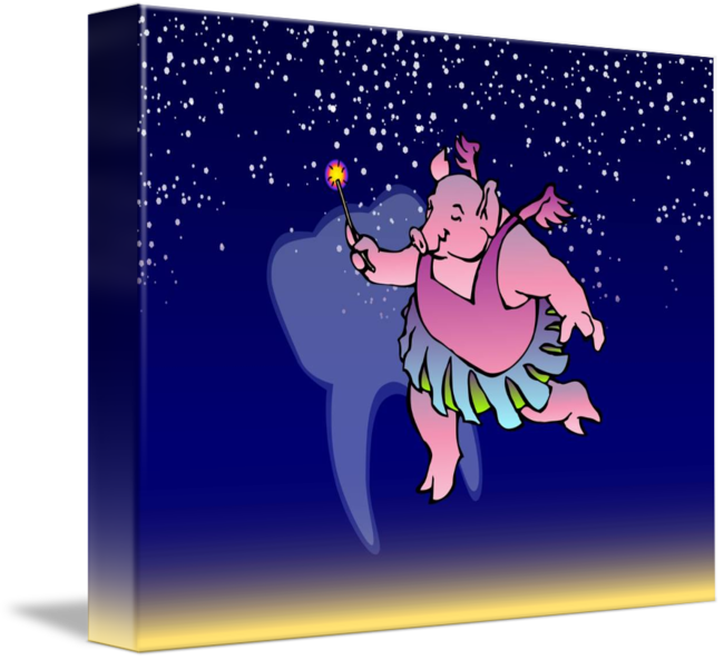 The tooth fairy pig. Pigs clipart rectangle