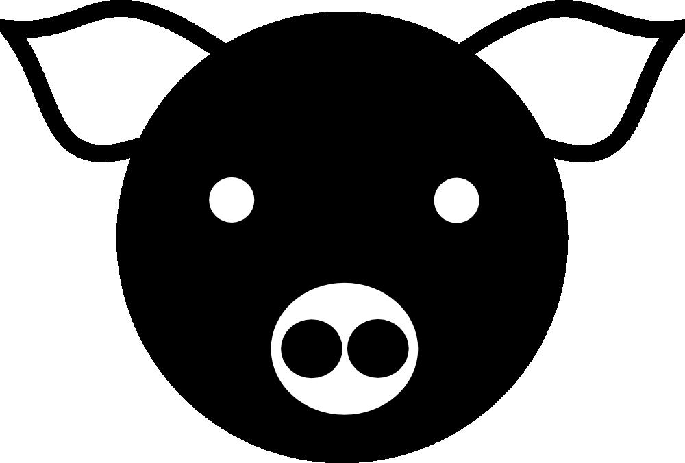 Clipart pig rectangle. Onlinelabels clip art simple