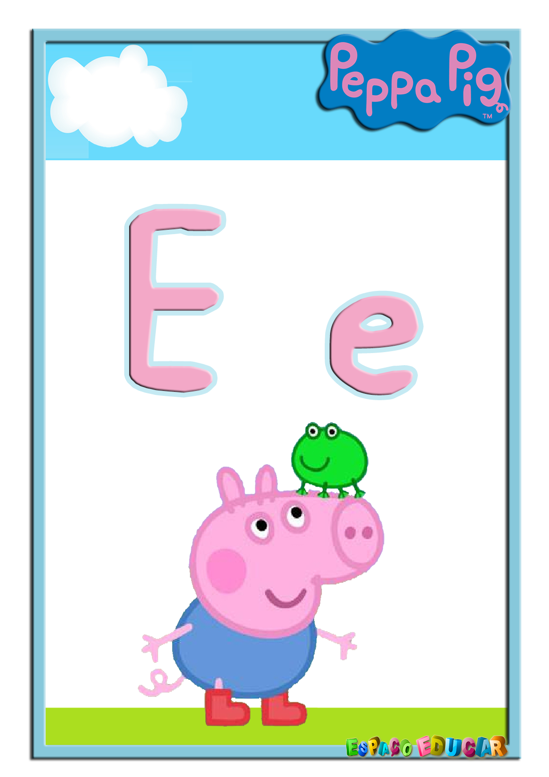 Alfabeto de peppa y. Clipart pig rectangle