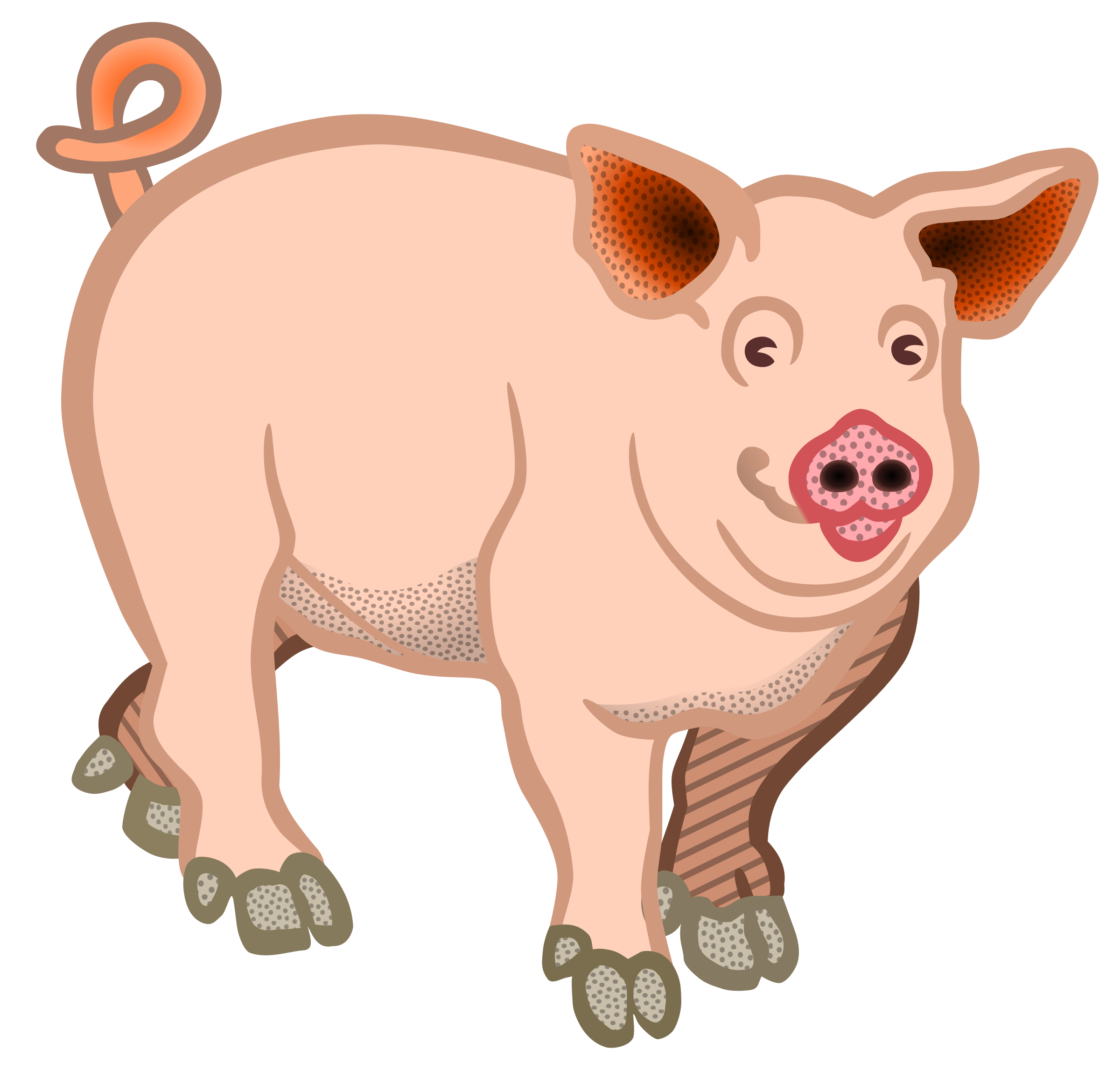Pig clipart teacher. Coloured big image png